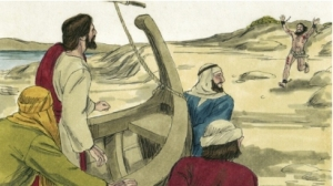 Possessed man runs to Jesus