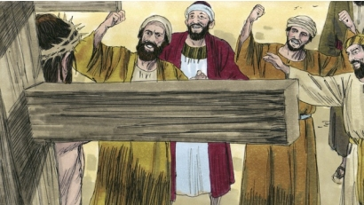Image result for image of jews mocking jesus on the cross