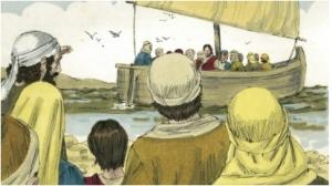 Jesus and disciples set sail