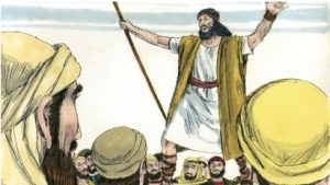 John the Baptist preaches