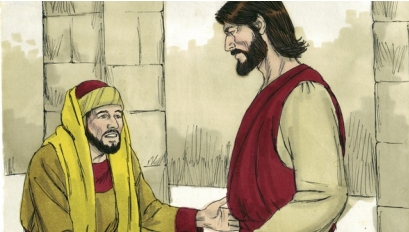 Young Rich Man Approached Jesus Coloring Page