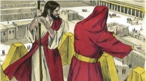 Jesus on the temple