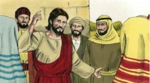 Jesus talks with sinners