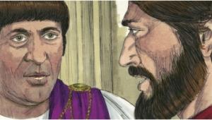 Jesus answers Pilate