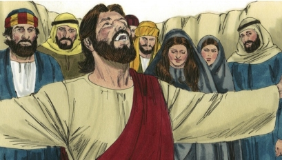 Jesus Raised Lazarus From The Dead Coloring Page
