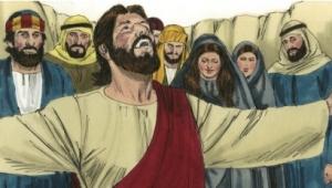 Jesus commands Lazarus: Come forth.