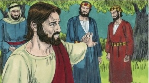 Jesus goes to pray by himself.
