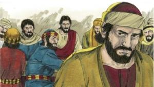 Judas leaves to betray Christ