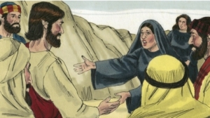 Martha cries to Jesus
