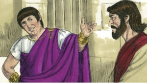 Pilate questions Jesus