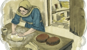Woman adds yeast