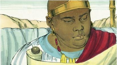Ethiopian reads Isaiah