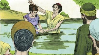 Lydia is baptised