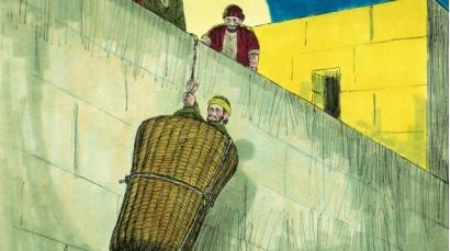Paul escapes in basket