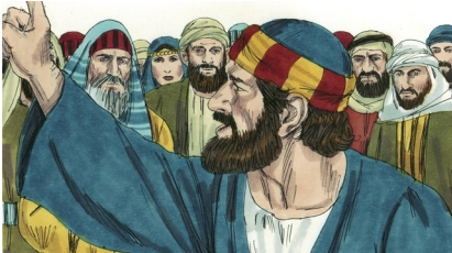 Peter accuses and rebukes